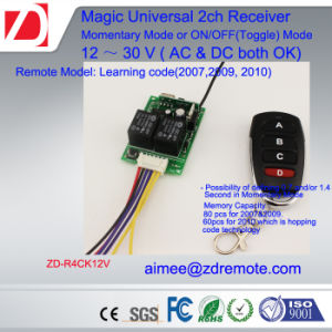 Universal 12V/24V 2 Channel Gate/Garage Door Remote Control Receiver Hcs301 Receiver pictures & photos