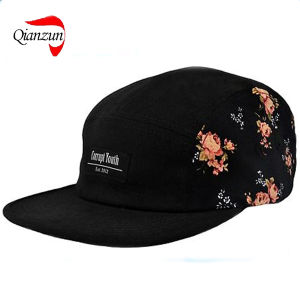Black Floral Side 5panels Hat Camp Cap Supreme Quiet Life Huf (QZ-LW-010) d35dc2f04ee