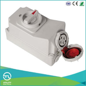 Multi-Current IP67 Female Socket with Switch and Mechanical Interlock pictures & photos