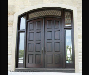 Centre Arch Main Entrance Walnut Solid Wood External Entry Doors