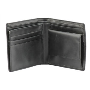 Men′s Genuine Leather Wallet with Coin Pocket