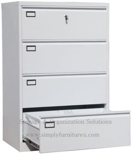 Elegant 4 Drawer Metal Lateral File Cabinet With Lock