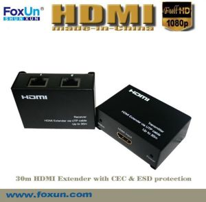 30m HDMI Extender Support 3D & Cec & with ESD Protection Inside