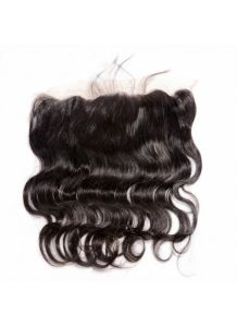 13X4 Stock Body Wave Indian Remy Hair Frontal Closure Natural Hairline Bleached Knots Lace Frontals with Baby Hair