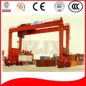 China Famous Brand Rubber Tyre Container Gantry Crane 40t