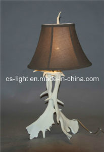 Unique White Antler Resin Decoration Table Lamp