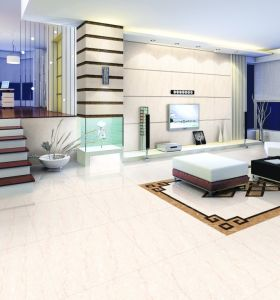 White Natural Stone Polished Porcelain Tile pictures & photos