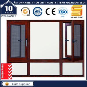 Aluminum Casement Swing Window with Stainless Steel Mesh Screen