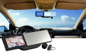 Bluetooth Rearview Mirror+Recording DVR+GPS