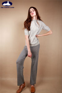 Women′s Cashmere Long Pants Rk170103qm pictures & photos