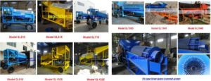 Lode Gold Ore Mobile Mining Rotary Screen Trommel Washing Plant for Processing Lode Gold pictures & photos