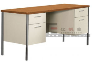 Hot Sale 2-Drawer School Office Teacher Table with Metal Frame pictures & photos