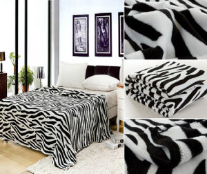 Classical Zebra Design Printed Flannel Fleece pictures & photos