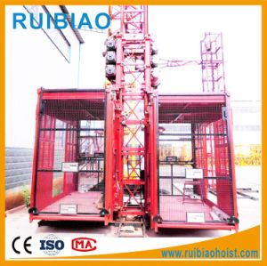 Double Cage High Speed Construction Hoist (SC200/200TD) pictures & photos