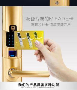 Electric Fingerprint Function Waterproof Door Lock with Motor Password Unlock