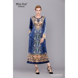 Miss You Ailinna 801897 Ladies Velevt Clothing Fashion New Dress pictures & photos