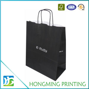 Custom Design Black Color Paper Bag with Handle pictures & photos