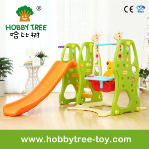 2017 Popular Style Baby Plastic Toys with Slide and Swing (HBS17001C)