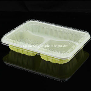 3 Compartment Disposable Food Container with Clear Lid (SZ302) pictures & photos