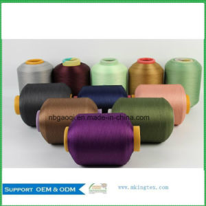 150d DTY Yarn Polyester Dope Dyed Filament Yarn for Lace pictures & photos