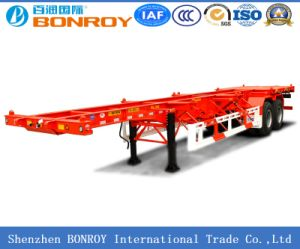High Quality 40FT 3axle Flatbed Container Semi Trailer