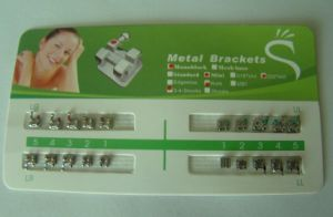 Dental Orthodontic Metal Brackets Braces Mini Roth 018 3 Hooks pictures & photos