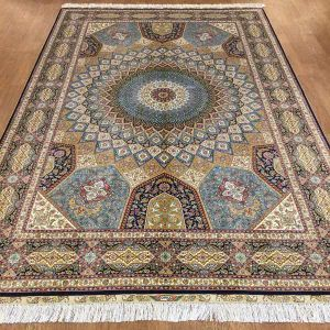 China Hand Knotted Oriental Silk Persian Rugs 6 X 9