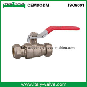 Italycopper Produced Compression Level Ball Valve (AV1016) pictures & photos