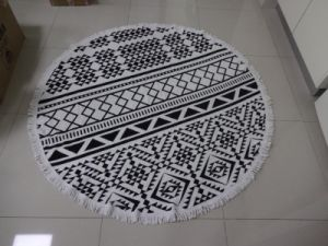 Hot Sale Microfiber or 100% Cotton Custom Reactive Print Round Beach Towel pictures & photos