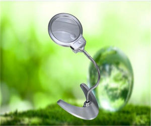 Jewelry Desk Magnifying Glass with LED Light (EGS4B-12) pictures & photos