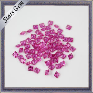 Wuzhou Factory Price Square Shape Synthetic Ruby pictures & photos