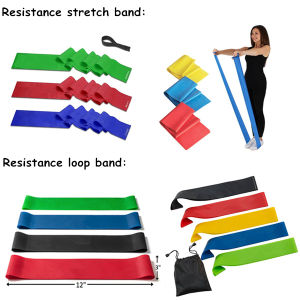 Amazonbasics 4-Piece Exercise and Resistance Loop Bands with Bag