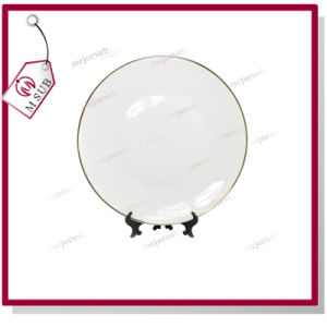 8′′ Ceramic Plate with Golden Rims for Sublimation pictures & photos