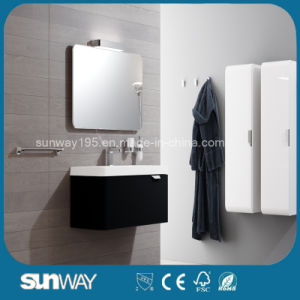 Wall Mounted Modern European Design Bathroom Cabinet with Mirror pictures & photos