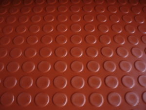 Red Color Round Button Rubber Sheet, Stud Rubber Sheet for Flooring Rolls pictures & photos