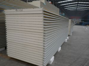 Color Coated Steel Insulated PU Sandwich Panel pictures & photos