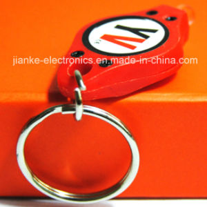 Souvenir Gift LED Lighting Keychain with Logo Printed (3032)