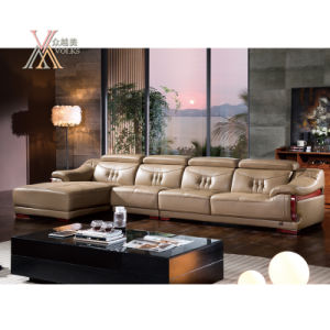 Living Room Leather Sofa Set with Adjustable Headrest (398)