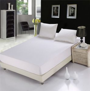 Home Hotel Or Hospital Use Polycotton Double Size White Bed Fitted Sheet  (WSFI 2016010