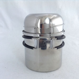304 Stainless Steel Camping Cookware Set 2 Pieces pictures & photos