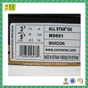 Paper Shoe Barcode Label Sticker pictures & photos