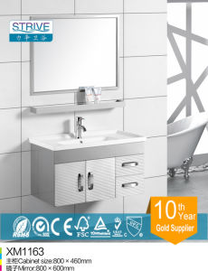 China Supplier Mirror Design Top Stainless Steel Bathroom Vanity