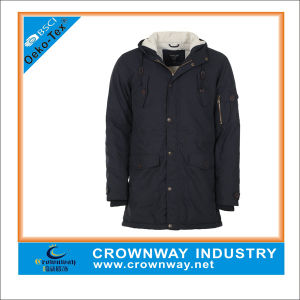 Mens Warm Black Parka Jacket for Winter pictures & photos