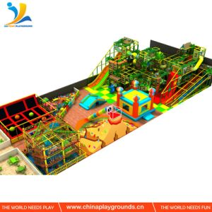 Rope Playground Kids Indoor Play Area Wooden Chanllenge Course