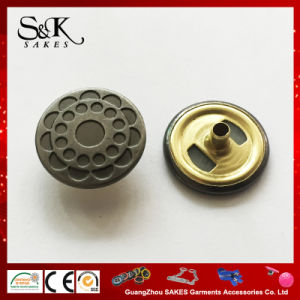High Quality Anti Silver Metal Snap Button for Garments