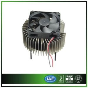 Round Extruded Aluminum Heatsink with Fan pictures & photos