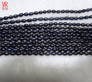 7-8mm Black Rice Freshwater Pearls (ES373) pictures & photos