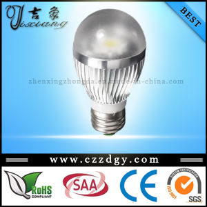 6W 110~240V Cool White COB E27 LED Bulb Light