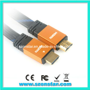 1.4V Flat HDMI Cable for HDTV