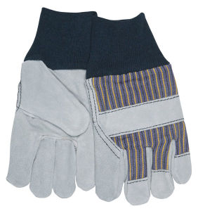 Shoulder Leather Working Protection Gloves with Fleece Palm Lining
